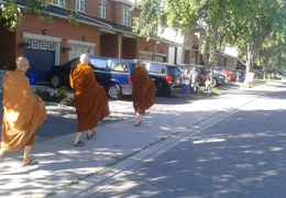 Walking on Alms Round