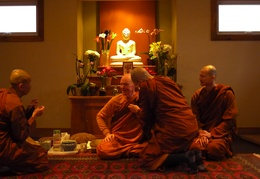 Ajahn Dick Receiving A Gift