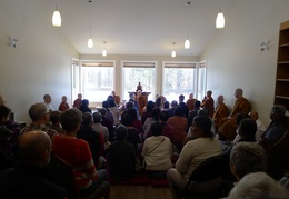 Quite a good crowd showed up for the opening of the Bhikkhu Vihara