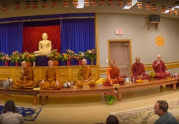 The assembled monastics - a panoramic view