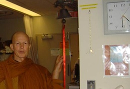 Ajahn Kusalo after chemotherapy treatment
