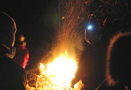 The bonfire is ablaze for new year's