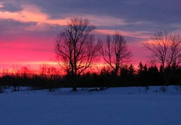 A beautiful winter sunset