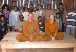 Ajahn Kusalo and Ven. Khemaratana on one of the new platforms