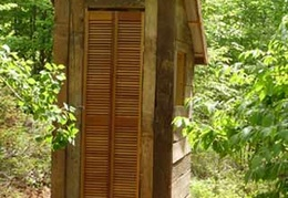 Another privy, just outside the elder's kuti, was put in place for Luang Por Sumedho's visit