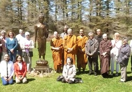 There was a nice gathering for Ajahn Viradhammo's birthday
