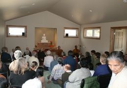 It would have been hard to fit any more in the hall.  Ajahn had many friends