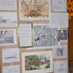 Display about proposed Dhamma Hall