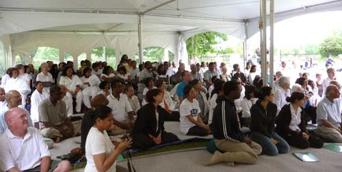 We rented a tent and filled it up for Ajahn Sumedho's vesak talk